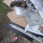 Alissa hilft beim Bodenlegen :-)