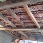 die zweite Dachhälfte vor Isolation
